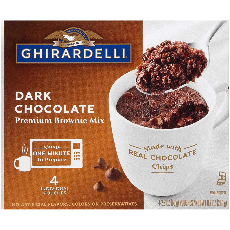 Ghirardelli Dark Chocolate Mug Brownie Mix, 9.2 Oz