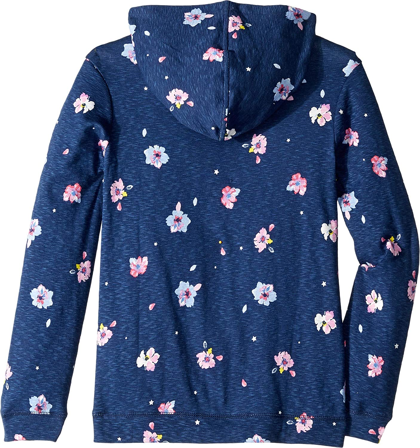 Joules Girls Marlston Relaxed Cotton Printed Hooded Sweater