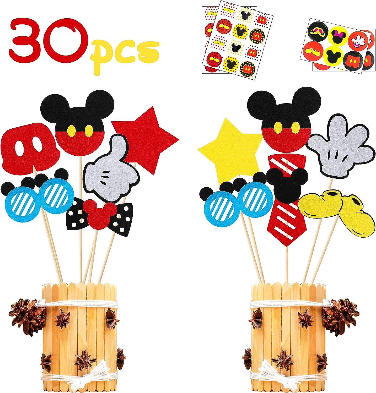 Juego De 100 Globos Mickey Mouse 12 Inch Decoracion Para Fiesta Cumpleaños Niñ