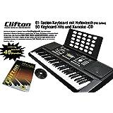 Clifton 6210c Keyboard LP6210C, USB, MIDI, 61 anschlagdynamische Tasten, Netzteil, Pitchbend-Rad