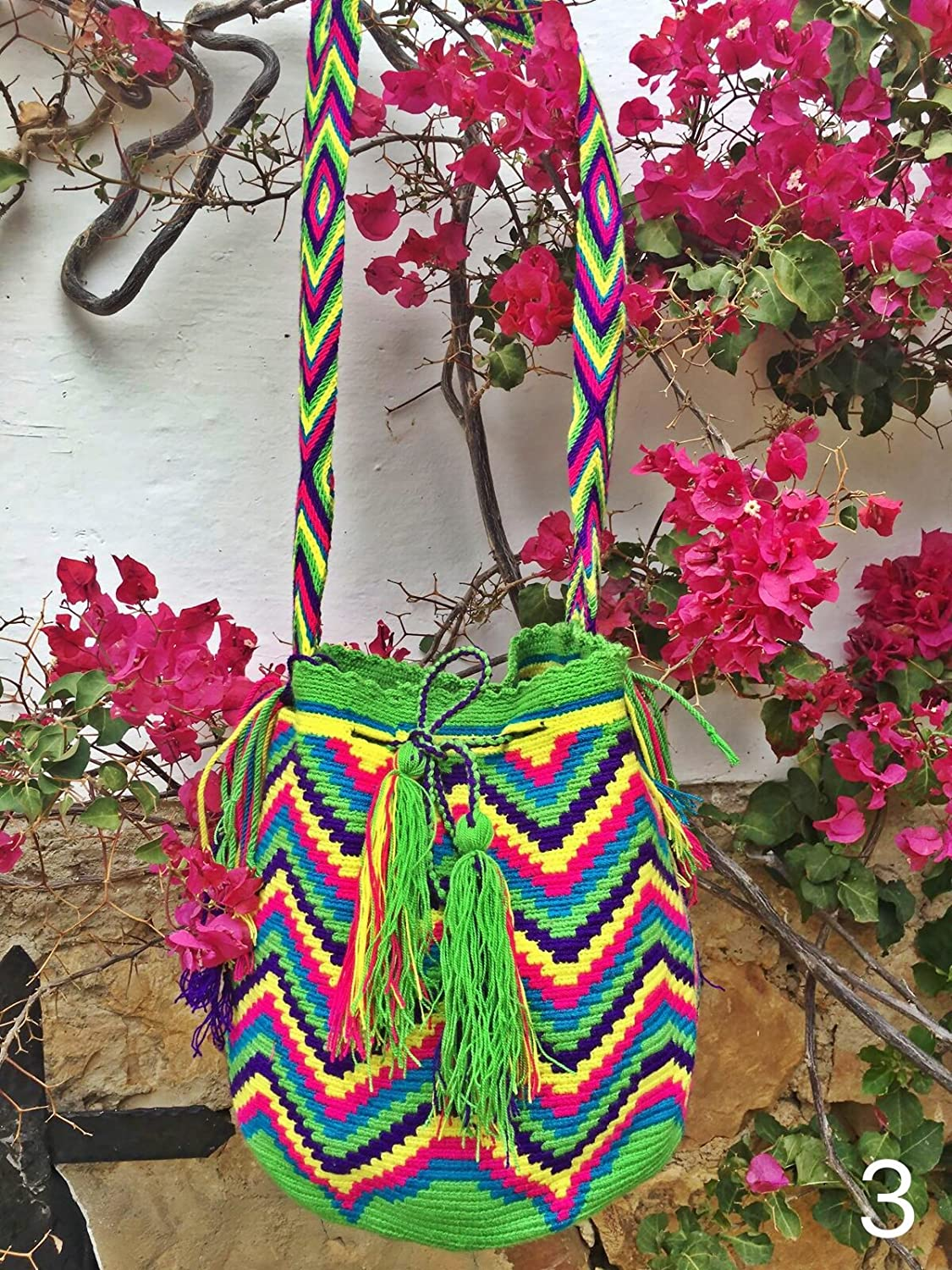Amazon.com : Wayuu Mochila - Hand Woven - Colombian Bag - Shoulder bag : Everything Else
