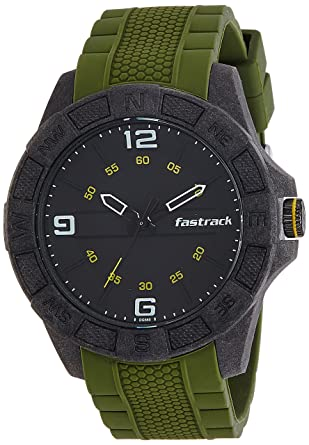 6b14a566a Buy Fastrack Analog Black Dial Men s Watch-NK38032PP02 Online at Low Prices  in India - Amazon.in
