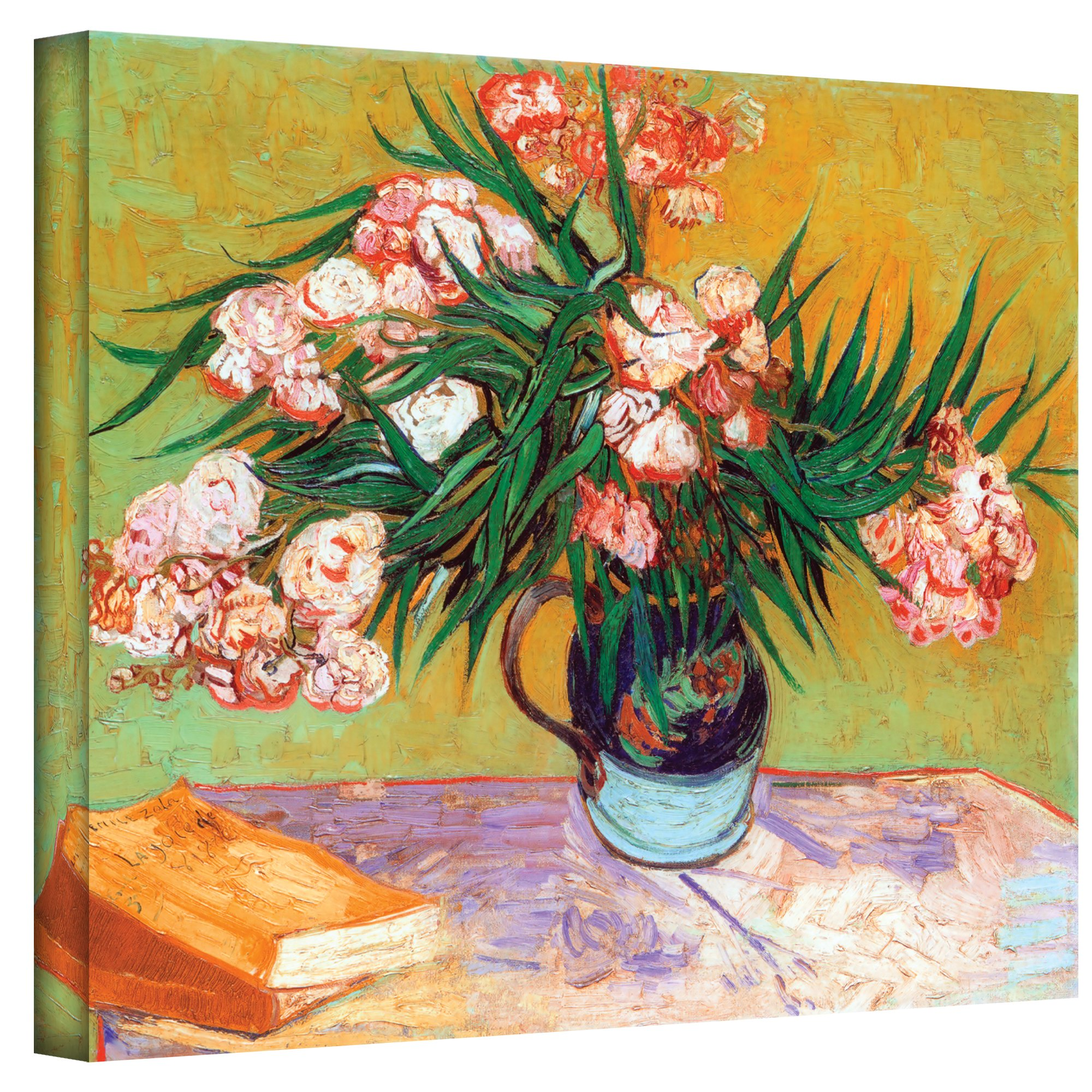 ArtWall Wild Roses by Vincent Van Gogh Gallery Wrapped Canvas, 36 by 48-Inch by ArtWall
