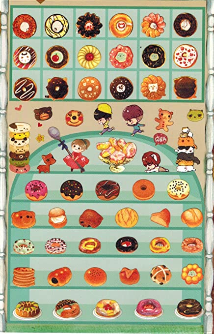 Amazon.com: [DECO FAIRY]Dessert Donut Snack Stickers