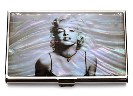 Amazon marilyn monroe business credit card case id holder marilyn monroe business credit card case id holder metal travel wallet mother of pearl colourmoves