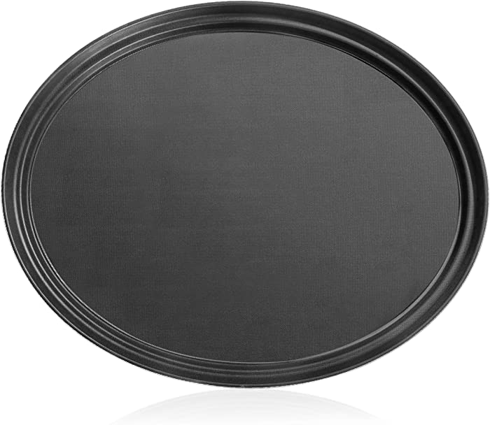 New Star Foodservice 25576 NSF Approved Plastic Non-Slip Tray, 24-Inch by 29-Inch (LARGE), Oval, Black