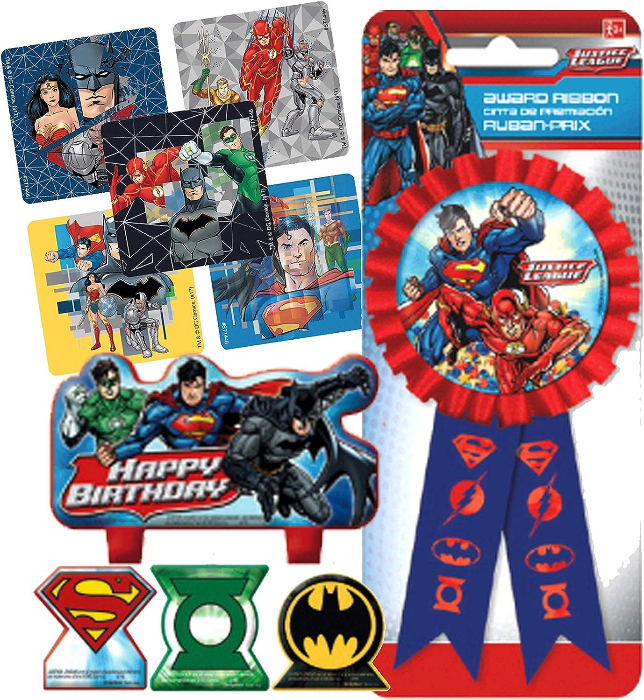 Incredible Amazon Com Justice League Birthday Cake Candle Set Birthday Funny Birthday Cards Online Kookostrdamsfinfo