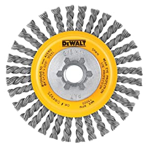 DEWALT DW4925 4-Inch Stringer Bead Wire Wheel/Carbon Steel 5/8-Inch-11 Arbor .020-Inch