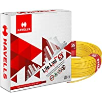 Havells Life Line Cable 1.5 sq mm Wire (Yellow)