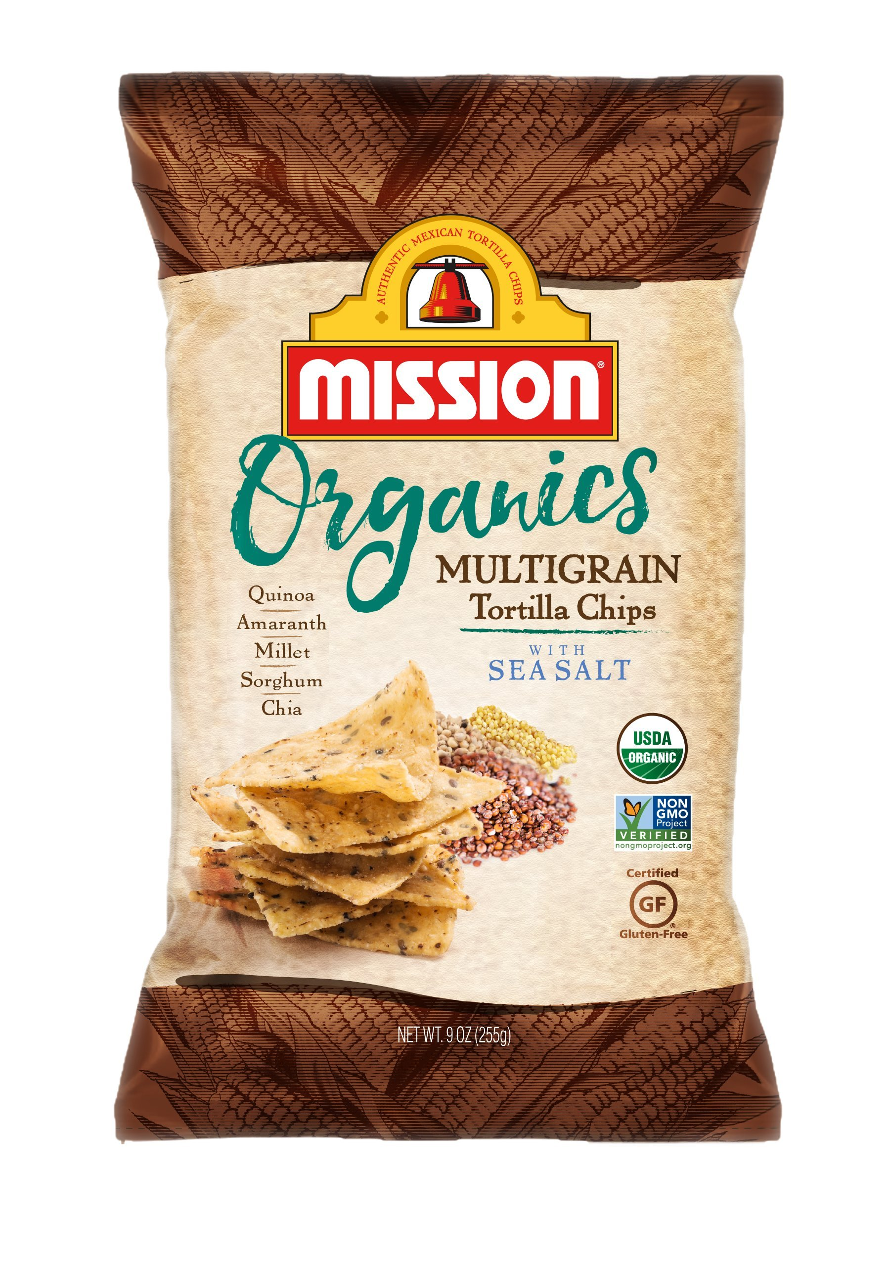 Mission Foods Organic Multigrain Tortilla Chips, 9 oz