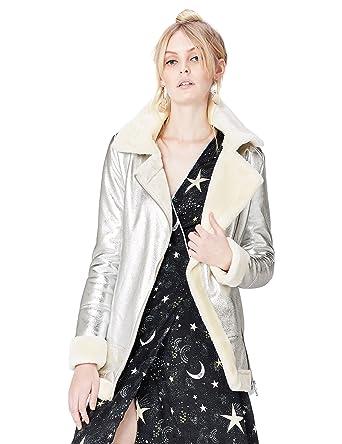 FIND Blouson Motard avec Fausse Fourrure Femme  Amazon.fr  Vêtements et  accessoires 958f304f7c5