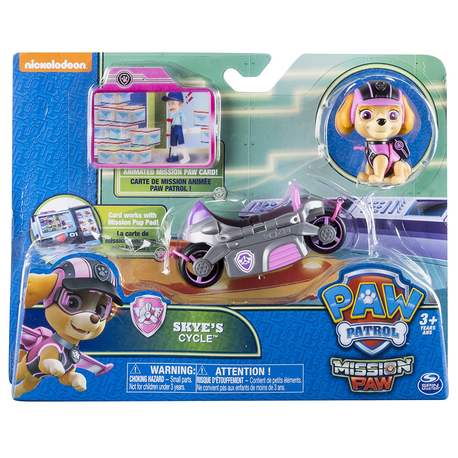 Connu Paw Patrol Mission Paw - Skye's Cycle - Figure and Vehicle: Amazon  AT08