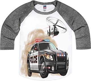 product image for Shirts That Go Little Boys' Police Car and Helicopter Raglan T-Shirt