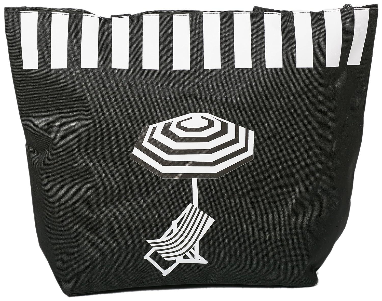 d06abc75e175b Beach Bag Womens Canvas Summer Tote Zip Closure 50 x38 CMS Shoulder Bags  Shopper for Girls ...