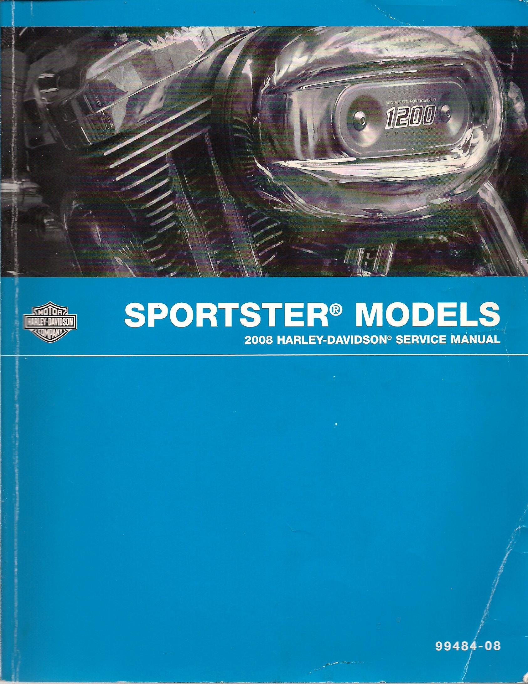 2008 Sportster Models Service Manual: Harley-Davidson Motor Company:  Amazon.com: Books