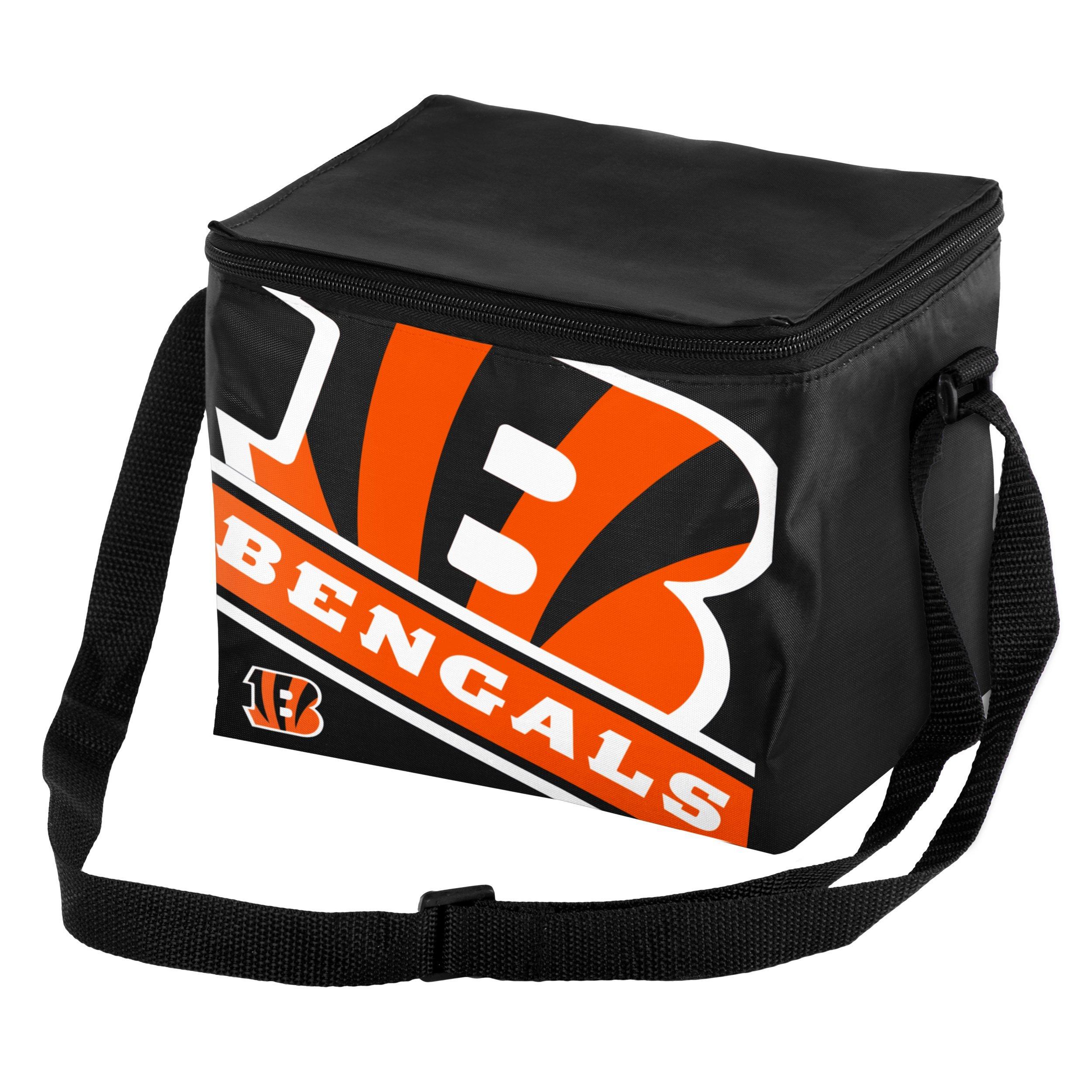 Cincinnati Bengals Big Logo Stripe 6 Pack Cooler