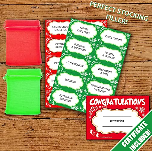 Christmas Charades.Christmas Charades 20 Player Party Game Cards Family Fun