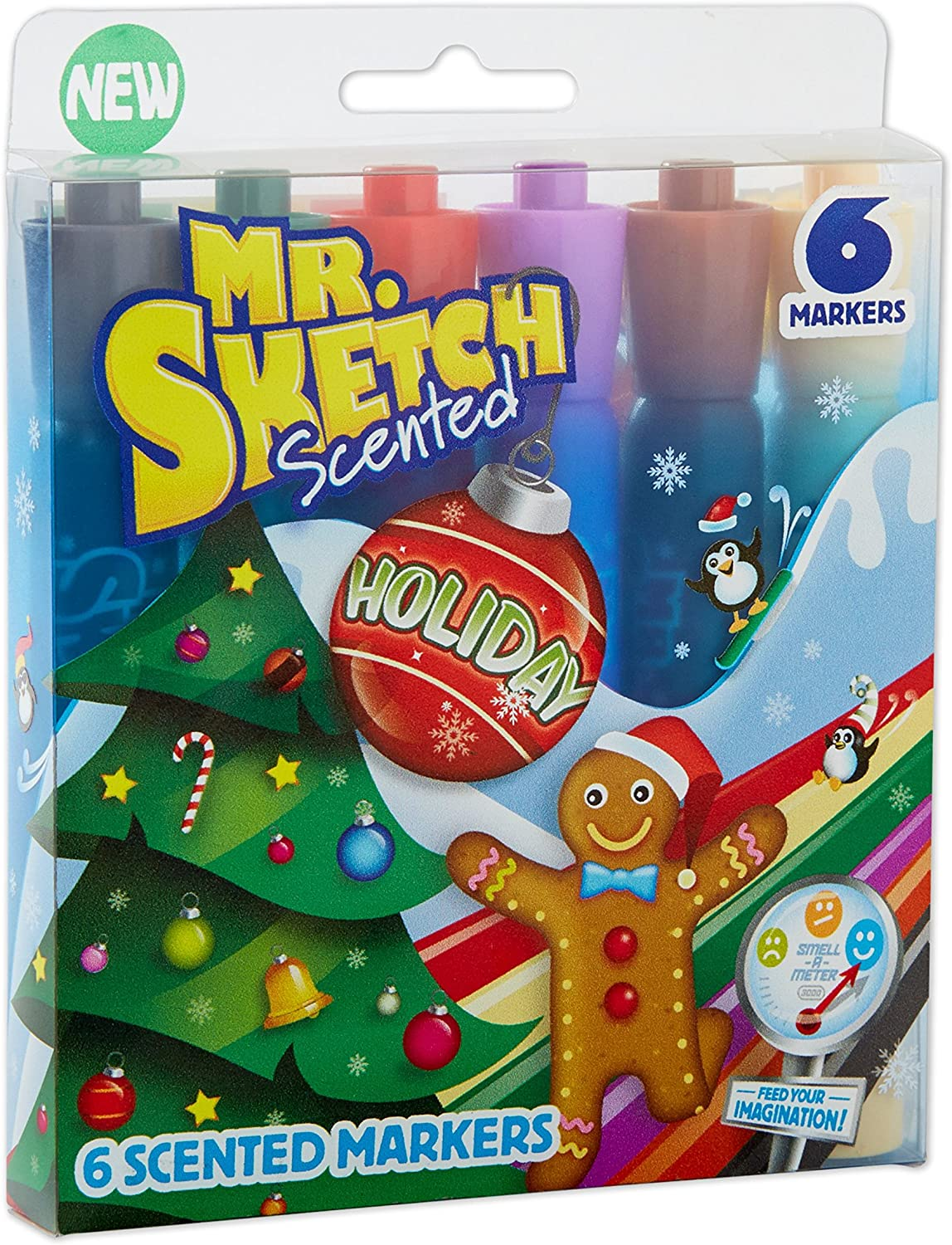 Mr. Sketch Scented Markers, Chisel Tip, Holiday Colors , 6-Count: Office Products