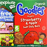 Organix Organic Goodies Strawberry Soft Oaty Bars 30 g (Pack of 6, 36 bars in total)