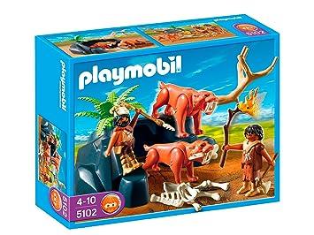 Playmobil Sable Tigres CazadoresSet Juego5102 Con De Dientes cS54AjL3Rq