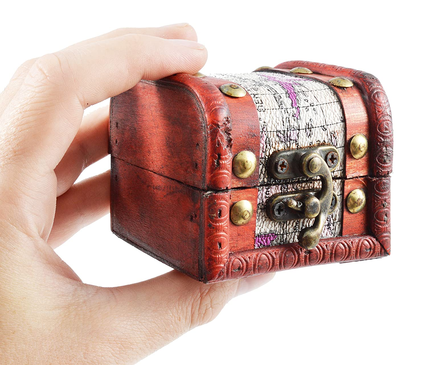 Crammed with Gemstones Fossil Gift Shop Pirates Treasure Chest Pack of 1 Pearls and Jewels!