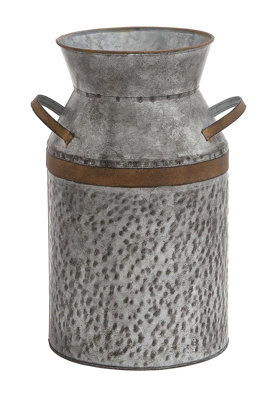 Deco 79 93992 Metal Galvanized Milk Can 10