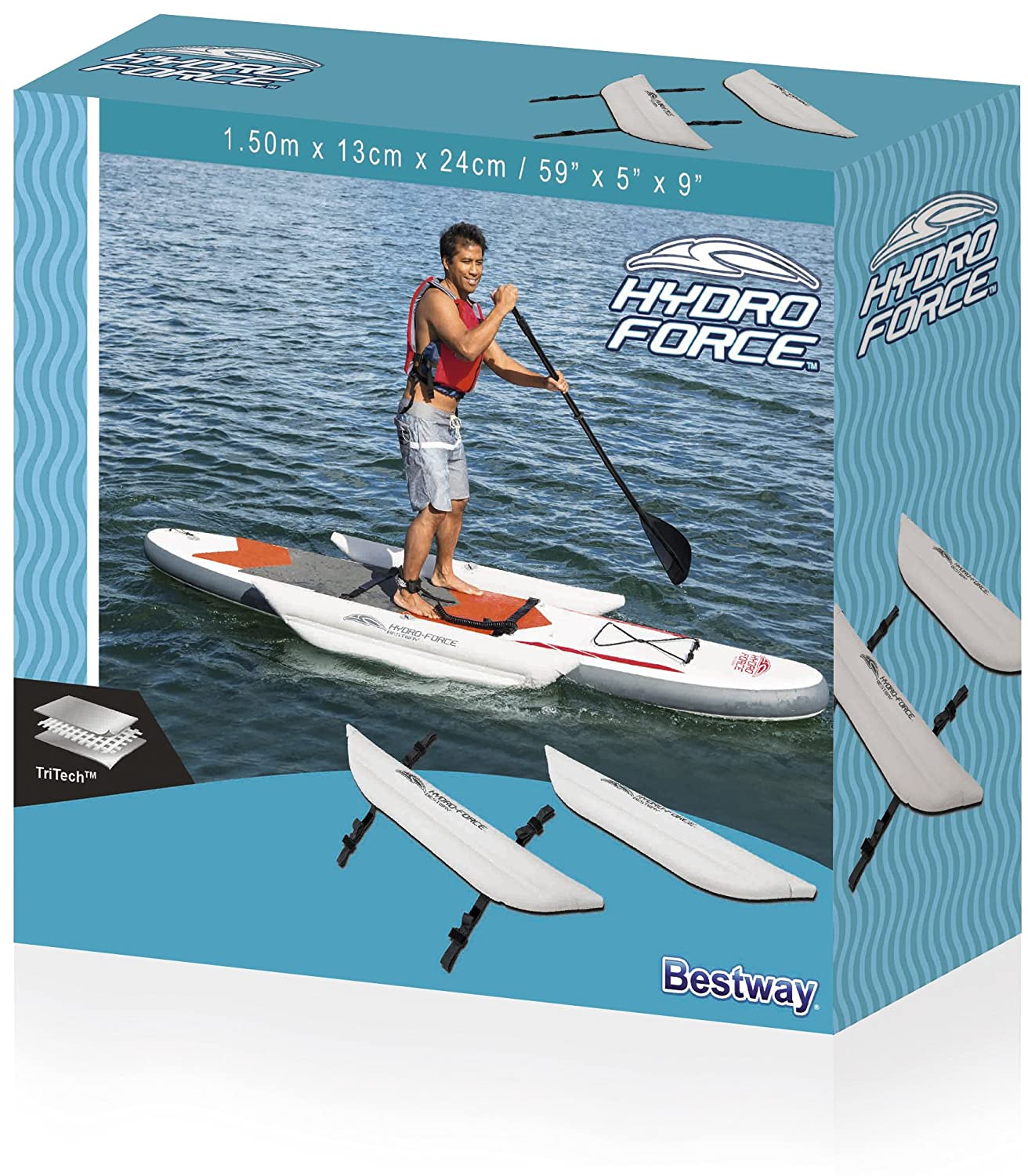 Bestway Hydro-Force - Barras inflables laterales de 1.5 m: Amazon.es: Deportes y aire libre