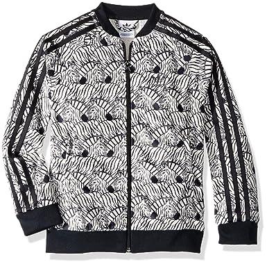 130e3e3267028 Amazon.com: adidas Originals Girls' Superstar Zebra Print Tracktop: Clothing