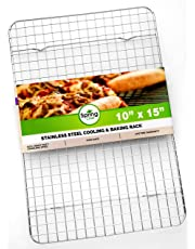 Spring Chef Cooling Rack - Baking Rack - Heavy Duty, 100% Stainless Steel, Oven Safe