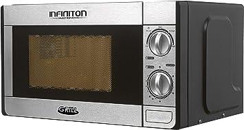 MICROONDAS INFINITON MW-1115 700W con Grill INOX.: Amazon ...