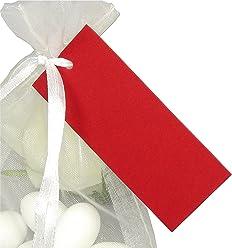 EinsSein 50x Geschenkanhänger Basic rot Geschenkkärtchen Tischkarten Hochzeit Party