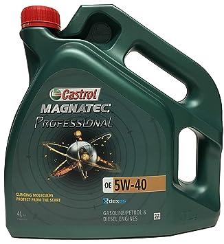 Castrol CAM540P0E Magnatec Profess. 0E 5W40 4L: Amazon.es ...