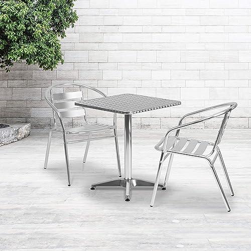Flash Furniture 23.5'' Square Aluminum Indoor-Outdoor Table