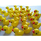 AMOBESTER Sime Charms Ducks 50Psc Slime Beads for Slime Decoration