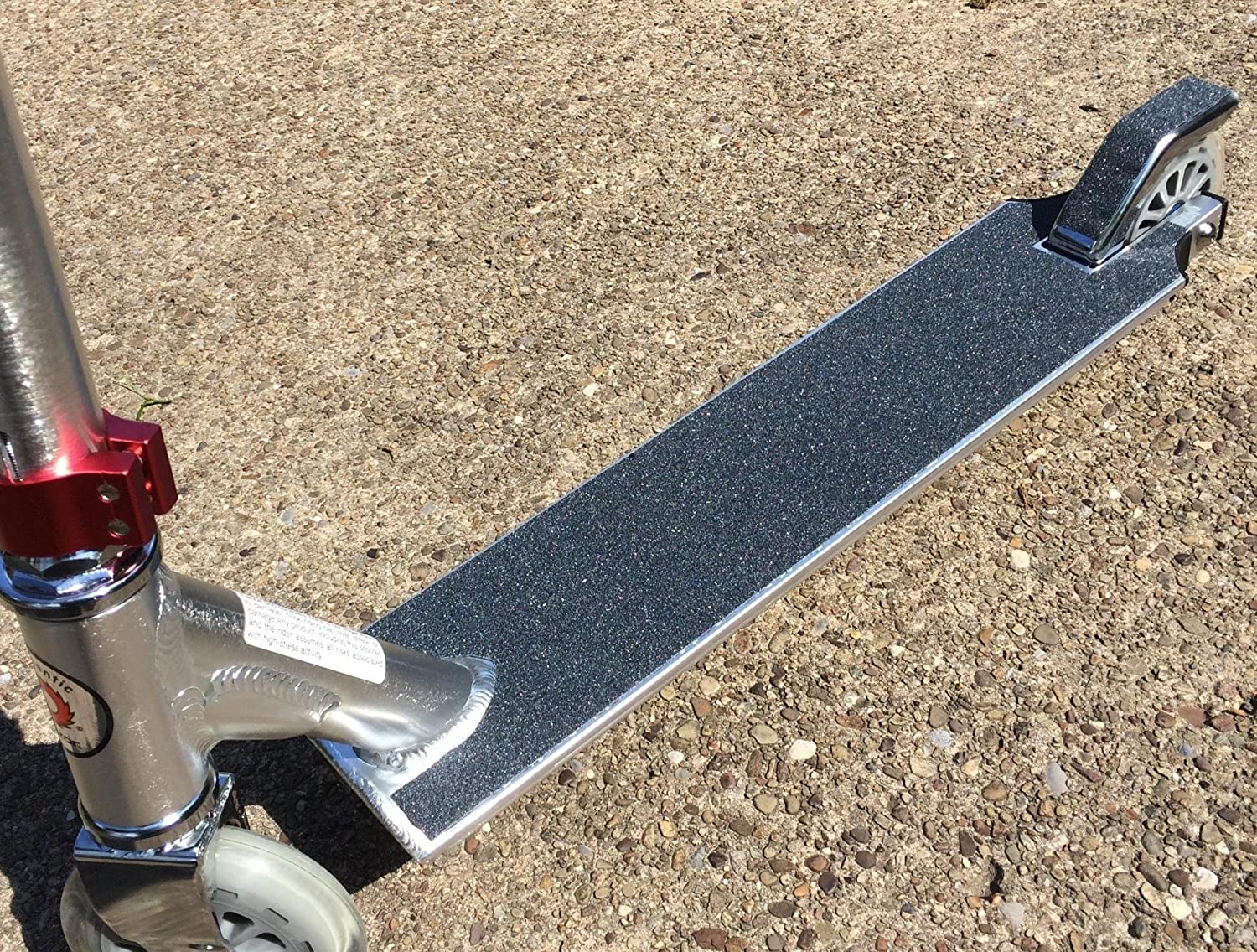 Phoenix Awesome grip 4.5 x 20 Fits most kick Red Cat Brand Scooter Grip Tape Black gas Micro 20-0010 Pro Grade Grip Tape made for scooters Guaranteed BUBBLE FREE etc Razor electric Lucky