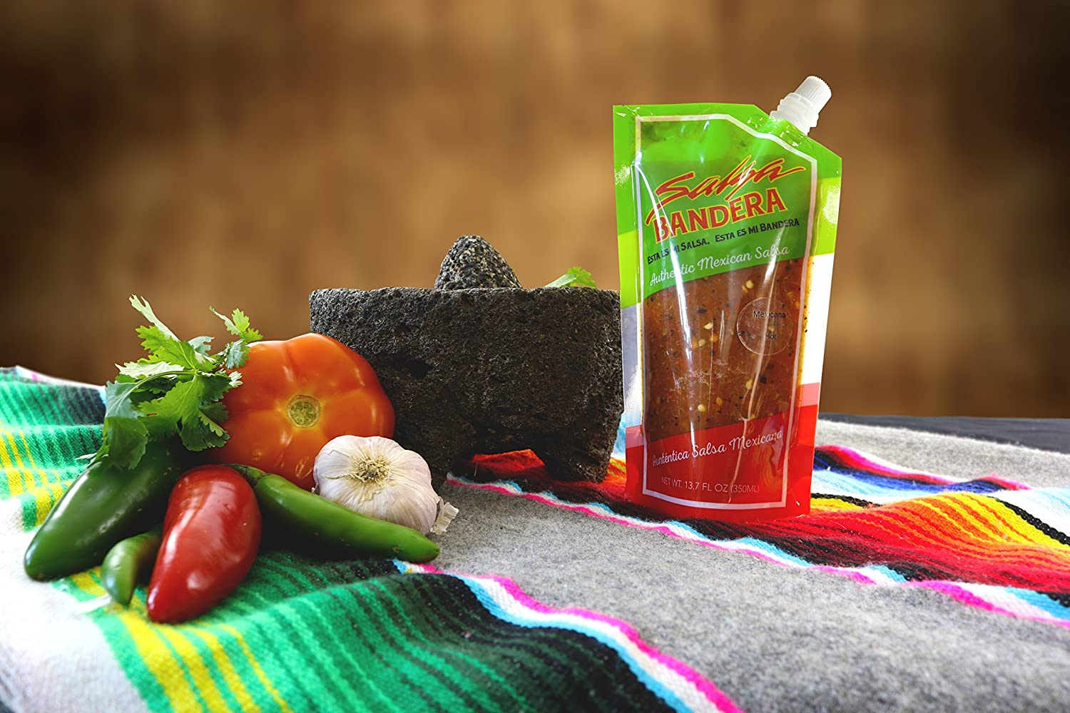 Amazon.com : Bundle of Salsa Bandera Authentic Mexican Salsa in Four Individually Packed Flavors Hot Sauce Gift Set : Grocery & Gourmet Food