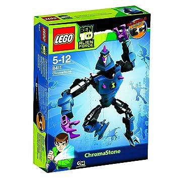 amazon com lego ben 10 alien force 8411 chromastone toys games