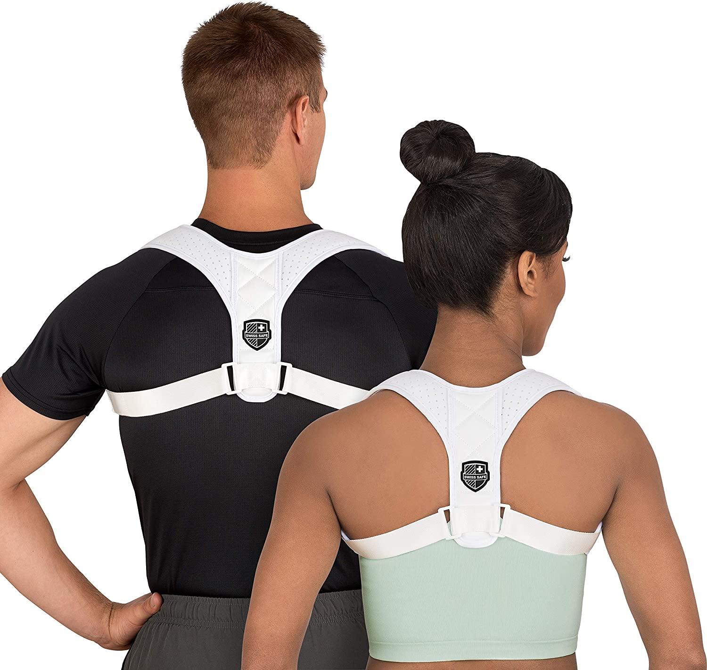 Swiss Safe Posture Corrector for Men/Women - Stylish & Discreet Ergonomic Back Straightener Brace for Proper Posture & Spinal Pain Relief (Black, Small/Medium): Industrial & Scientific