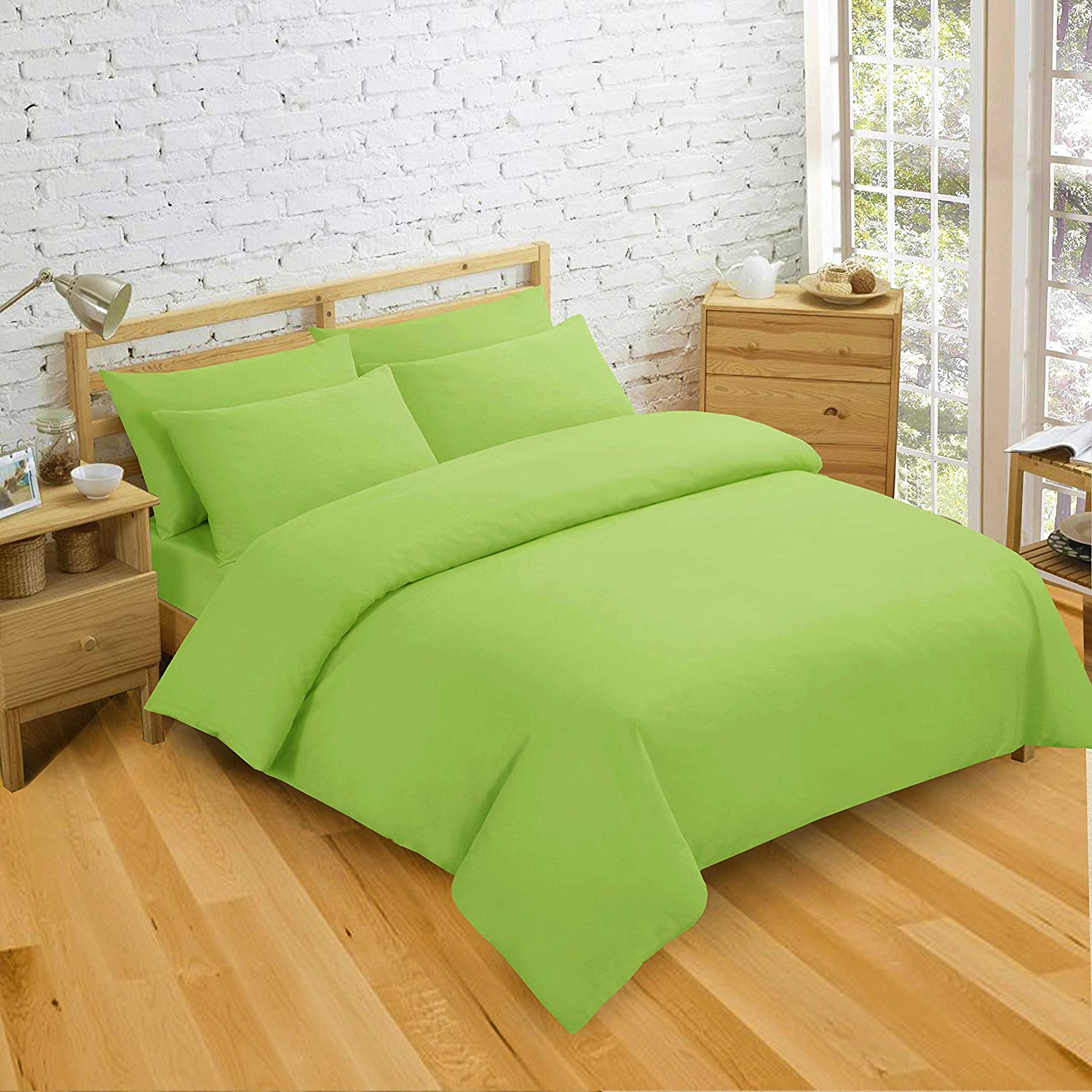 A dark brown or red duvet cover can match the fall and holiday season while a light green goes perfectly with the summertime feel. Besides the color and pattern, you will also need to consider the size of duvet cover needed for your bed.