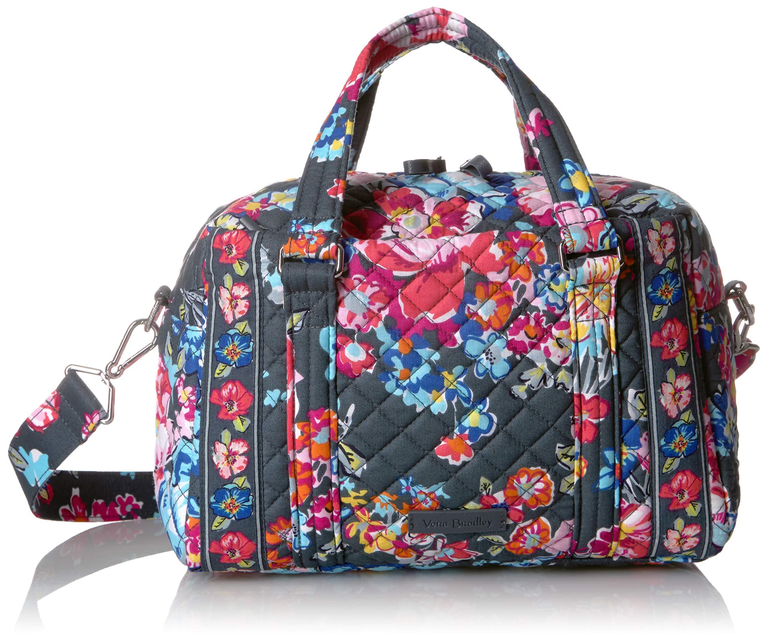 Vera Bradley Iconic 100 Handbag, Signature Cotton, pretty Posies