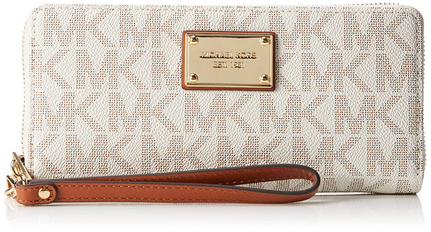 Wallet for Women On Sale, Brown, Coated Canvas, 2017, One size Michael Kors
