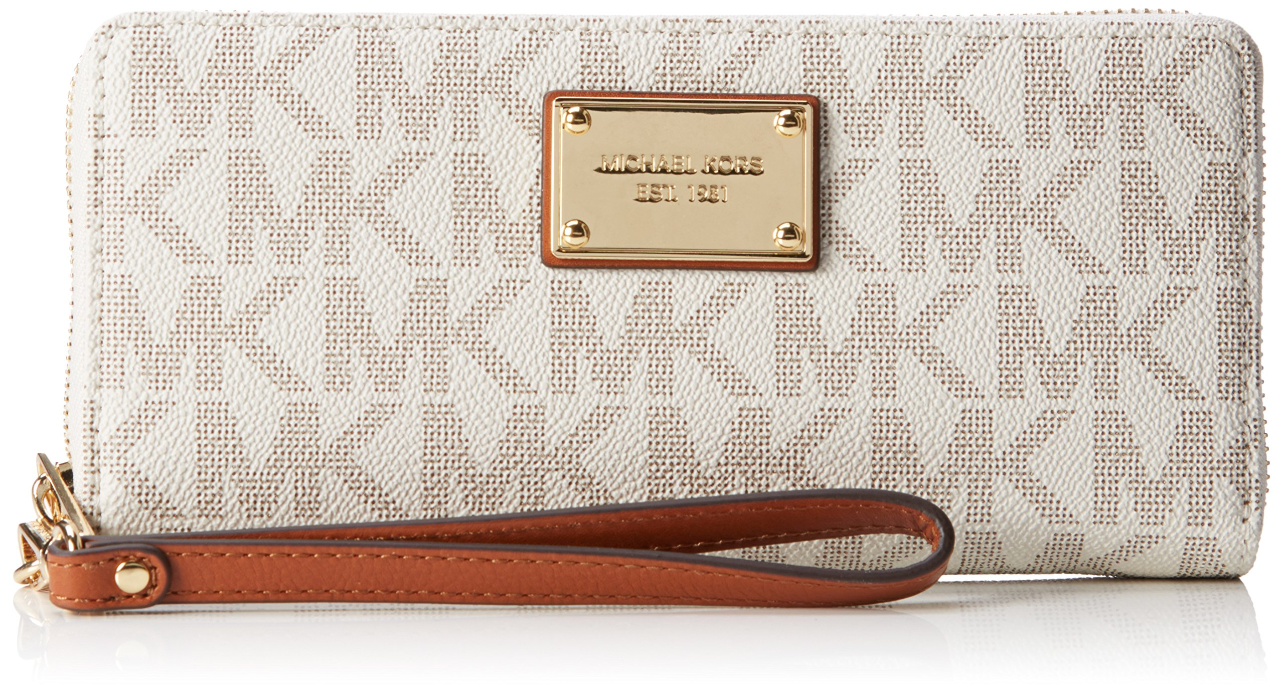 Michael Michael Kors Womens Jet Set Travel Signature Leather Continental Wallet