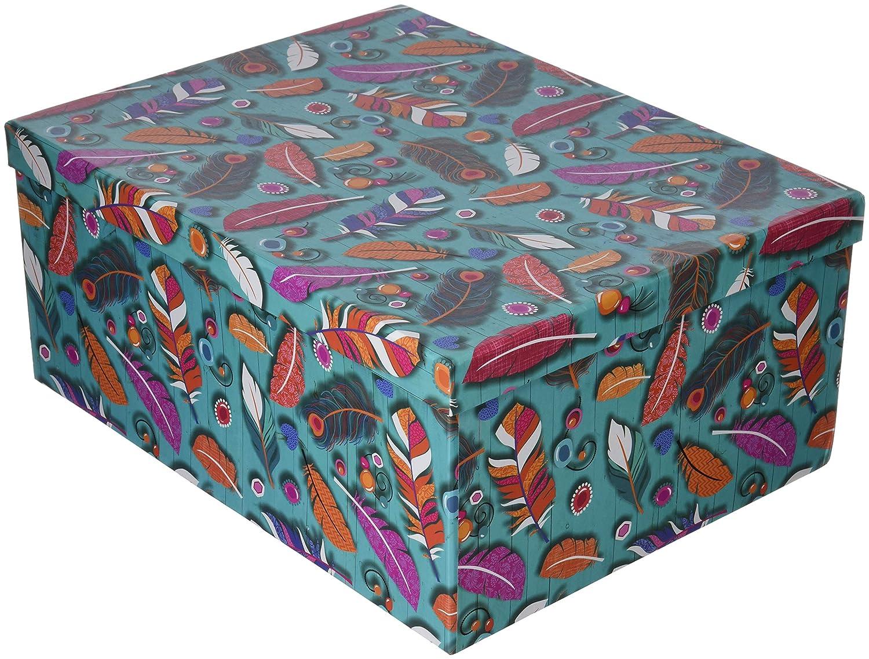Arteregal Juego de Cajas, Cartón,, 37.0x28.0x16.0 cm, 10 Unidades: Amazon.es: Hogar