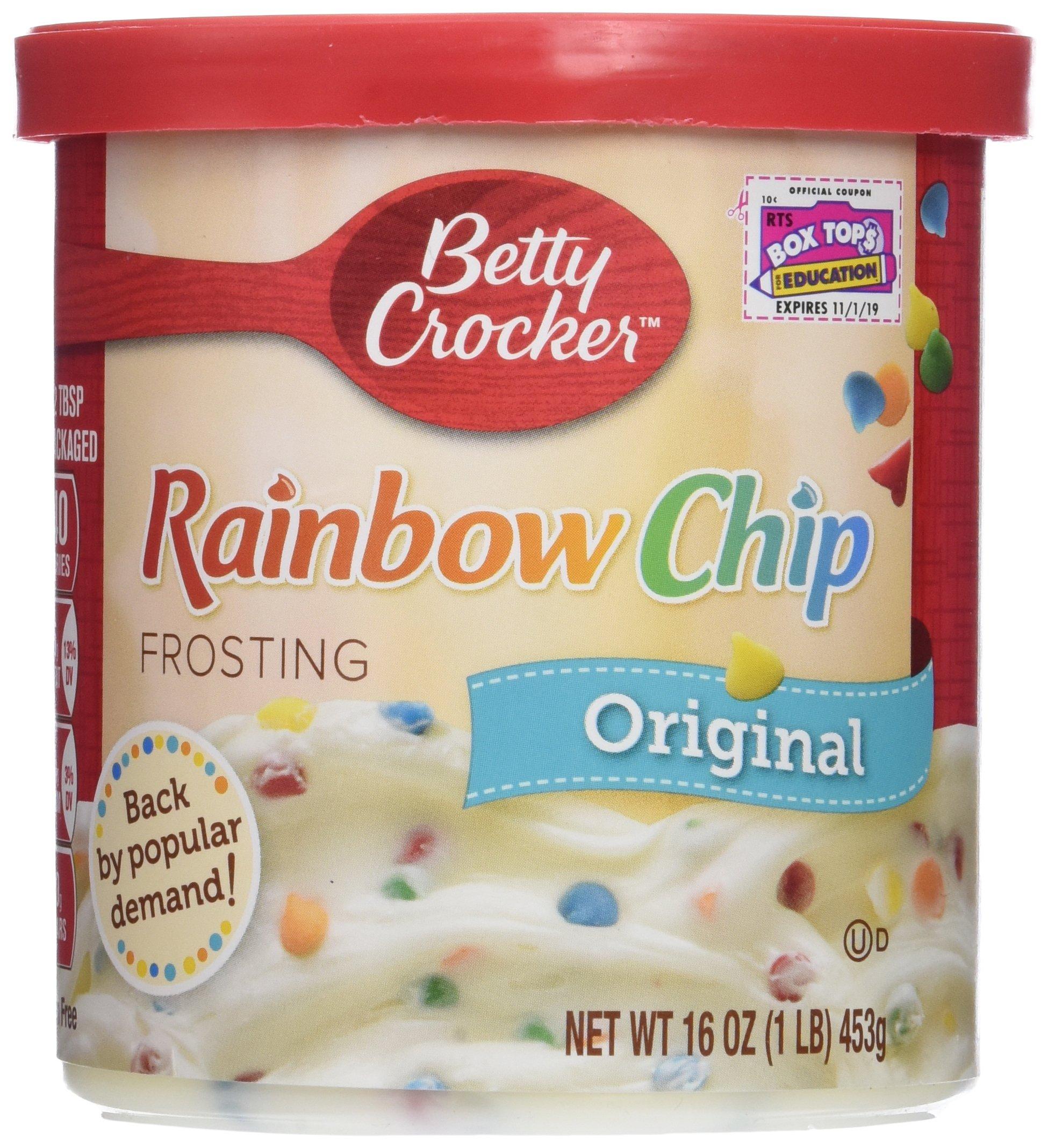 Betty Crocker, Rich & Creamy Frosting, Rainbow Chip, 16oz Tub (Pack of 3)