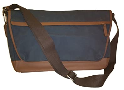 b23bf09a67 ... discount code for coach men camden canvas business laptop school messenger  shoulder bag navy 70829 e5d40