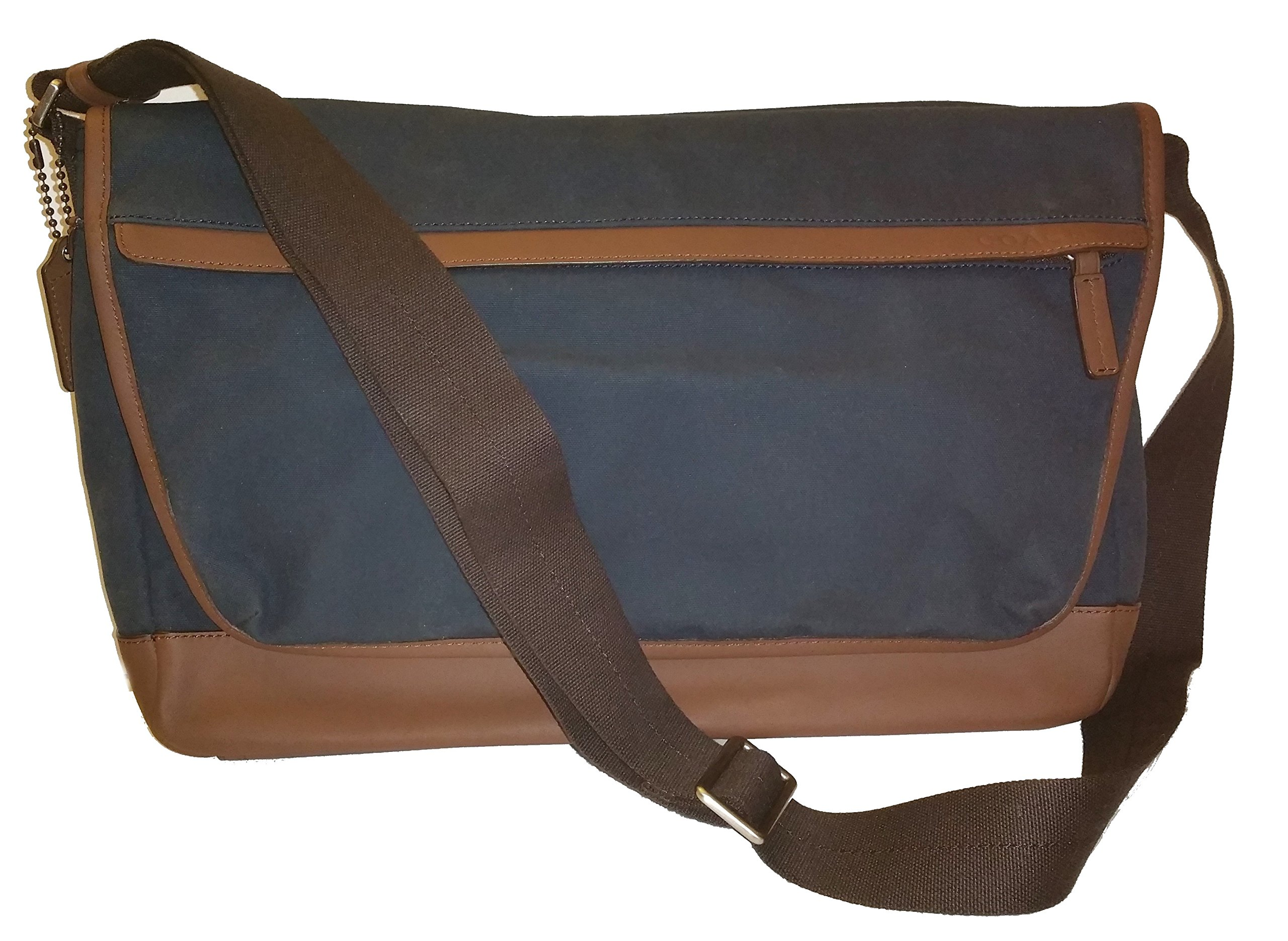Coach Men Camden Canvas Business Laptop School Messenger Shoulder Bag Navy 70829