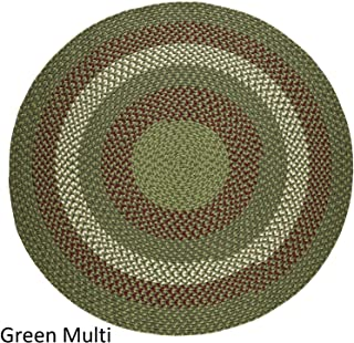 product image for Rhody Rug Mission Hill 4 ft Round Indoor/Outdoor Braided Area Rug - Made in USA Sage Green