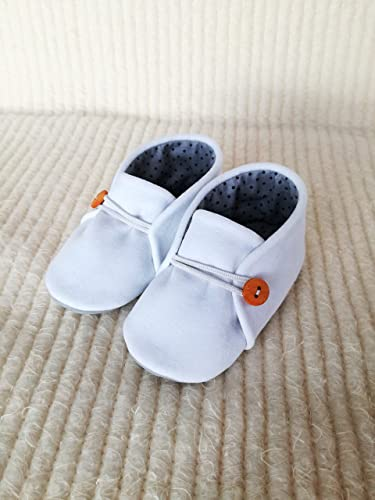Leather soles Christening booties//shoes New. Cotton 4 sizes White Handmade