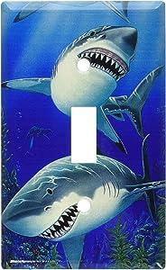 Art Plates - Sharks Switch Plate - Single Toggle
