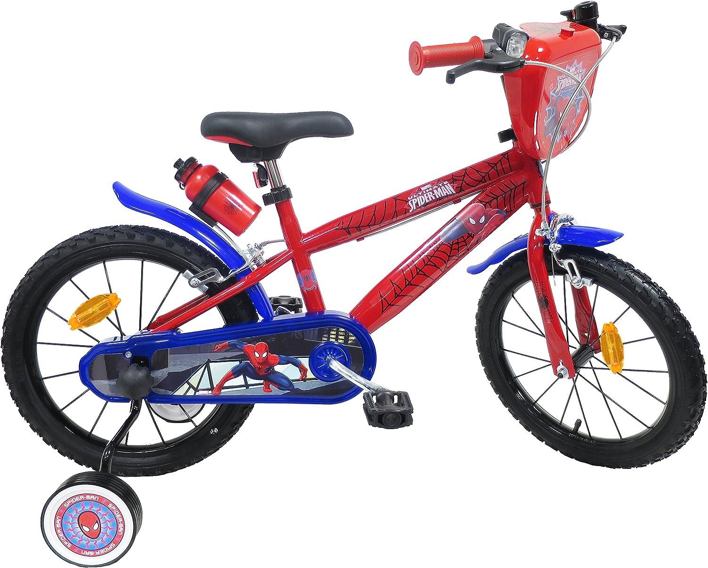 EDEN-BIKES - Bicicleta de 16 Pulgadas para niños con Licencia de Spiderman, 2 Frenos, Multicolor, 16 Pulgadas